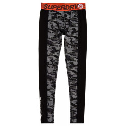 Legging Superdry Carbon Baselayer black dot camouflage