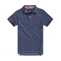 Polo Superdry Poolside Pique royal twist