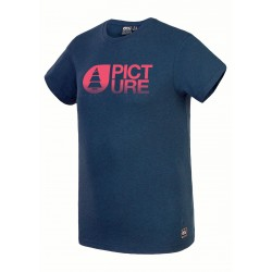 Picture basement melange Tee dark blue melange