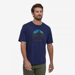Patagonia Fitz Roy Scope Organic T-shirt Classic Navy