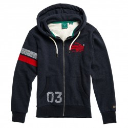 Sweat Superdry VL Varsity Ziphood Downhill Navy Marl