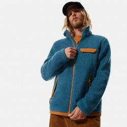 The North Face Cragmont Fleece Full Zip Jacket Mallard Blue / Timber Tan