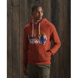 Sweat Superdry CL Wilderness Hood Sierra Orange